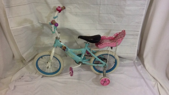Kids Bike with Pink Doll Seat