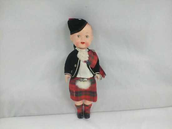 Vintage Boy Doll Made in Scottland