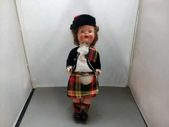 Vintage Girl Doll Made in Scottland.