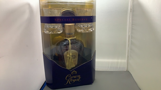 Collector Bottle Crown Royal w/ two Glasses