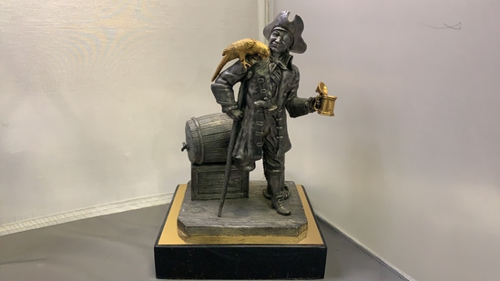 Michael Ricker Pewter Pirate with Parrot