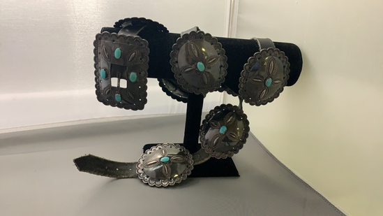 Conch Belt with Turquoise
