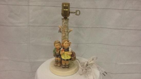"Hummel Table Lamp ""To Market"""