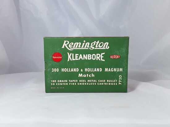1 BOX OF VINTAGE REMINGTON 300 H&H AMMO