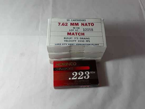 1 BOX OF NORINCO .223 REM AMMO.