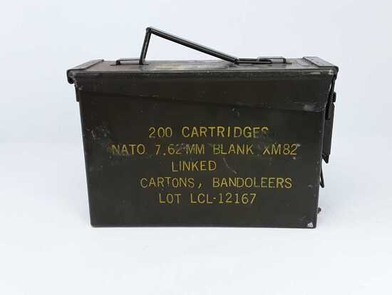 1 BOX OF VINTAGE 7.62 MM NATO AMMO