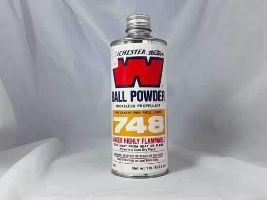 1 CAN OF WINCHESTER WESTERN BALL POWDER 748