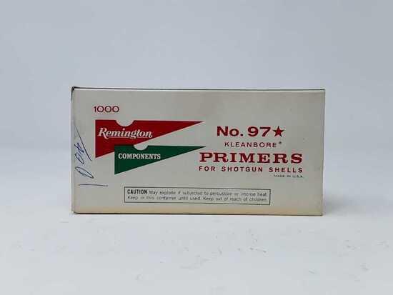 1 BOX OF REMINGTON NO 97 KLEANBORE PRIMERS