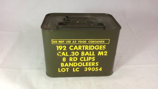1 UNOPENED TIN OF 30 CAL BALL MS 8 RD CLIPS.