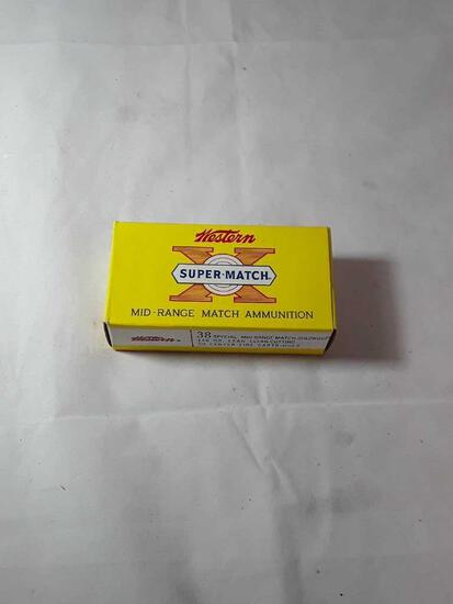 1 BOX OF WESTERN SUPER MATCH 38 SPECIAL AMMO