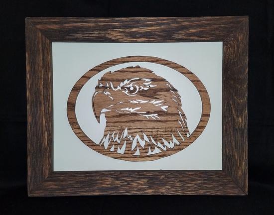 Framed Wooden Eagle