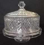 Irish Crystal Cake Plate