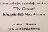 """Vacation at """"The Greens"""""""