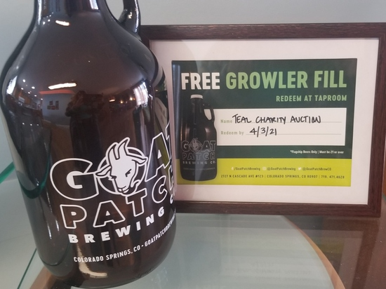 Goat Patch Brewing Growler