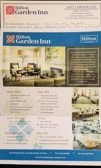 Hilton Garden Inn Stay