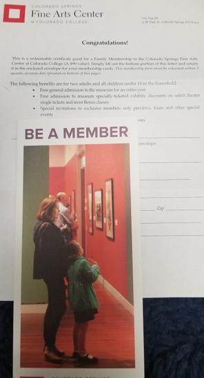 Family Membership to Colorado Springs FAC