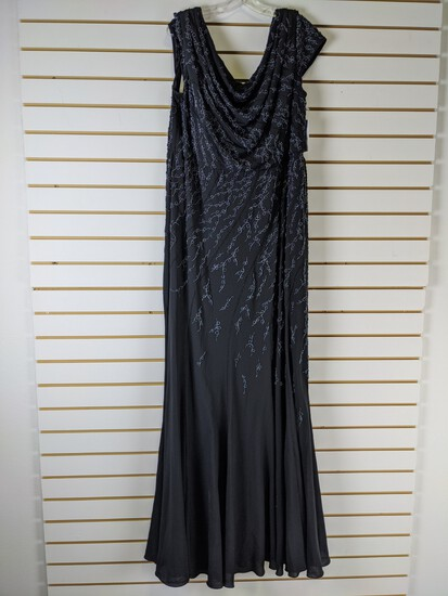 Ladies Black Beaded Dress