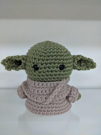 Baby Yoda Crochet Figurine