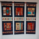 Santa-Fe Wall Hanging Quilt. By Jean O'Neill