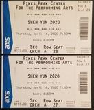 2 tickets to Shen Yun 2020