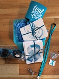 Teal Gift Basket