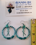 TEAL Morse Code earrings
