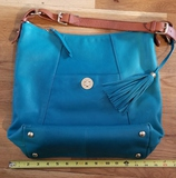 Teal Isaac Mizrahi Leather Purse