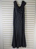 Ladies Black Beaded Dress