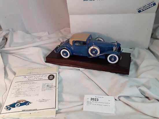 DIECAST 1929 CORD L-29 SPECIAL COUPE IN ORIG BOX