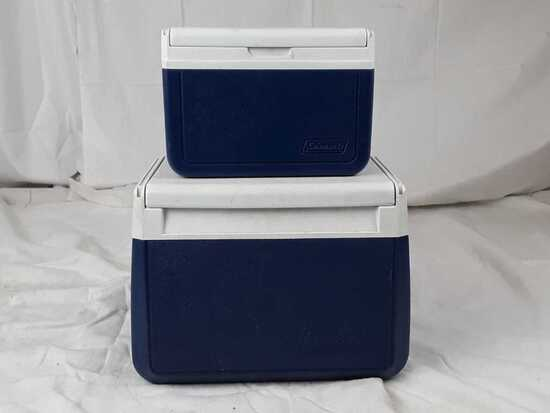 Lot of 2 Coleman lunchbox coolers