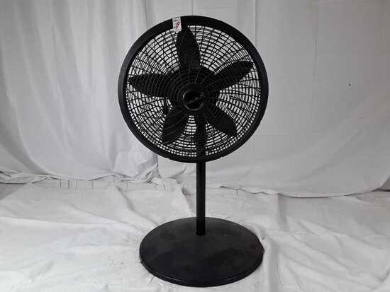 Lasko oscillating floor fan.