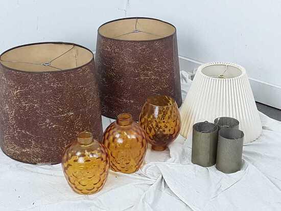 9 VARIOUS LAMP SHADES