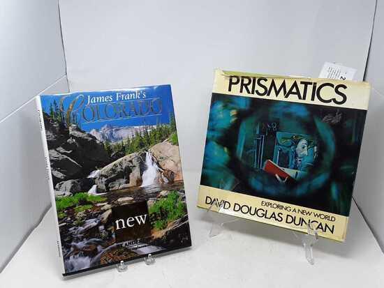 2 COFFEE TABLE BOOKS 1-COLORAD, 2-PRISMATICS