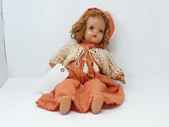 EYES OPEN & SHUT DOLL  CRACKS IN FACE & ARMS
