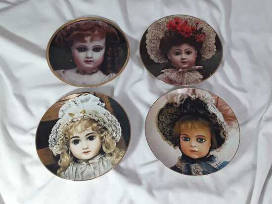 4 COLLECTOR PLATES THE DOLL COLLECTION