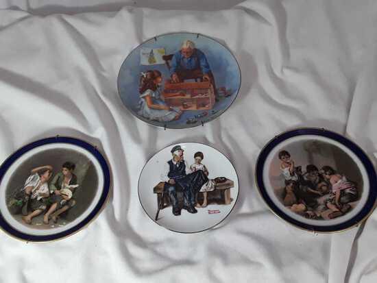 4 COL. PLATES 2 ECHT COBALT & 1 NORMAN ROCKWELL