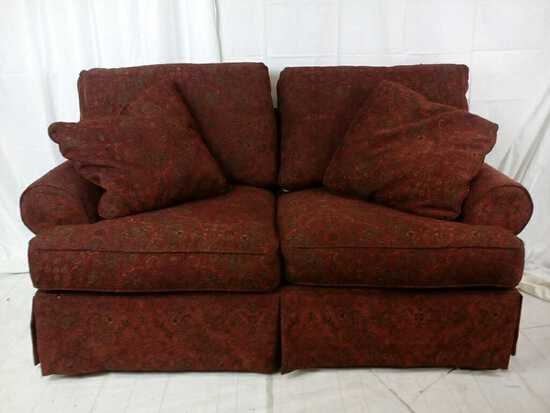 Alexvail burgundy sofa
