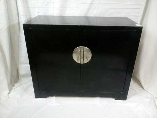 Oriental Black & Metal Buffet Cabinet