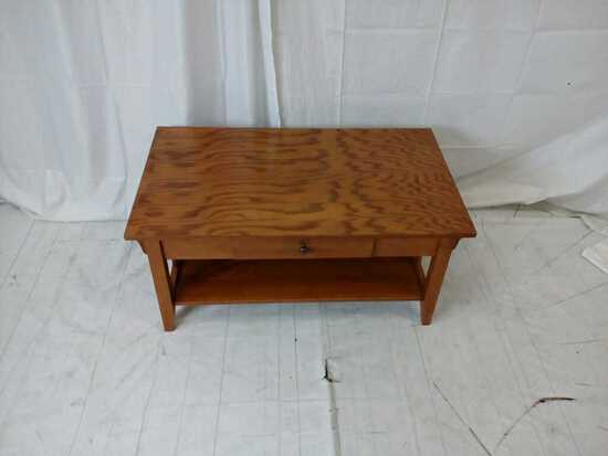 Mission style oak coffee table