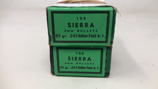 2 Boxes of Sierra 6MM Bullets.