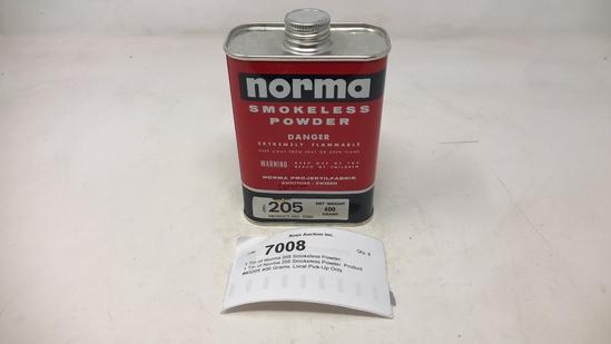 1 Tin of Norma 205 Smokeless Powder.