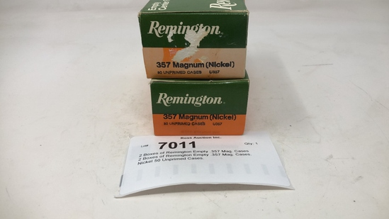 2 Boxes of Remington Empty .357 Mag. Cases
