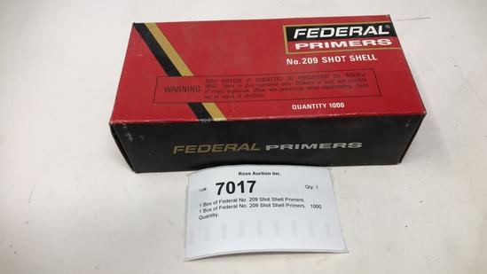 1 Box of Federal No. 209 Shot Shell Primers.