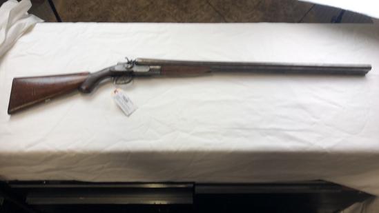 J.N Scott 10 Gauge Double Barrel Shotgun SN#24575