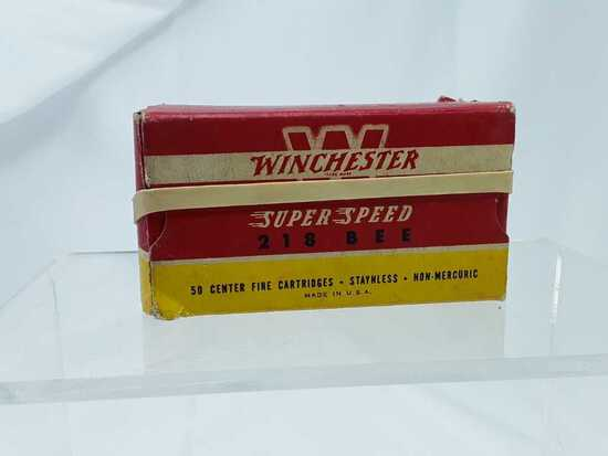 1 Box of Winchester 218 Bee Ammo.