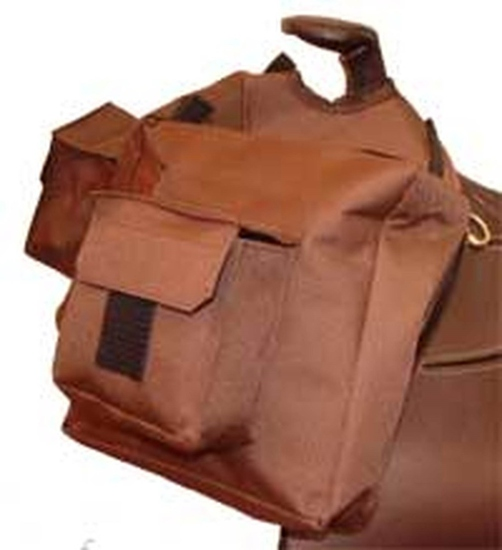 BAG 460BR- NYLON HORN BAG BROWN