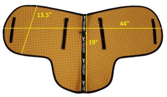 CPAD 518 DRESSAGE SHAPED SADDLE PAD QTY:5