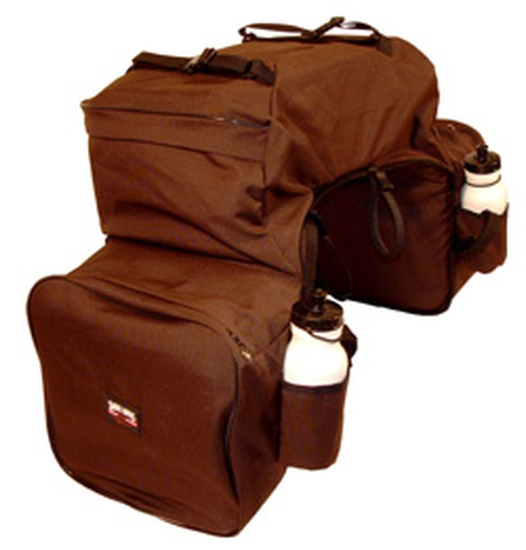 BAG 430BRN-OVERNIGHTER W/BOTTLE HOLDERS BROWN