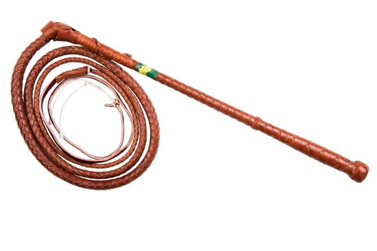 WHIP 8X12S KANGAROO LEATHER STOCK WHIPS  8'