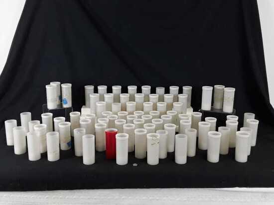 "76 AMBER COLOR ELECTRIC TEA LIGHTS - 2"" X 5"""
